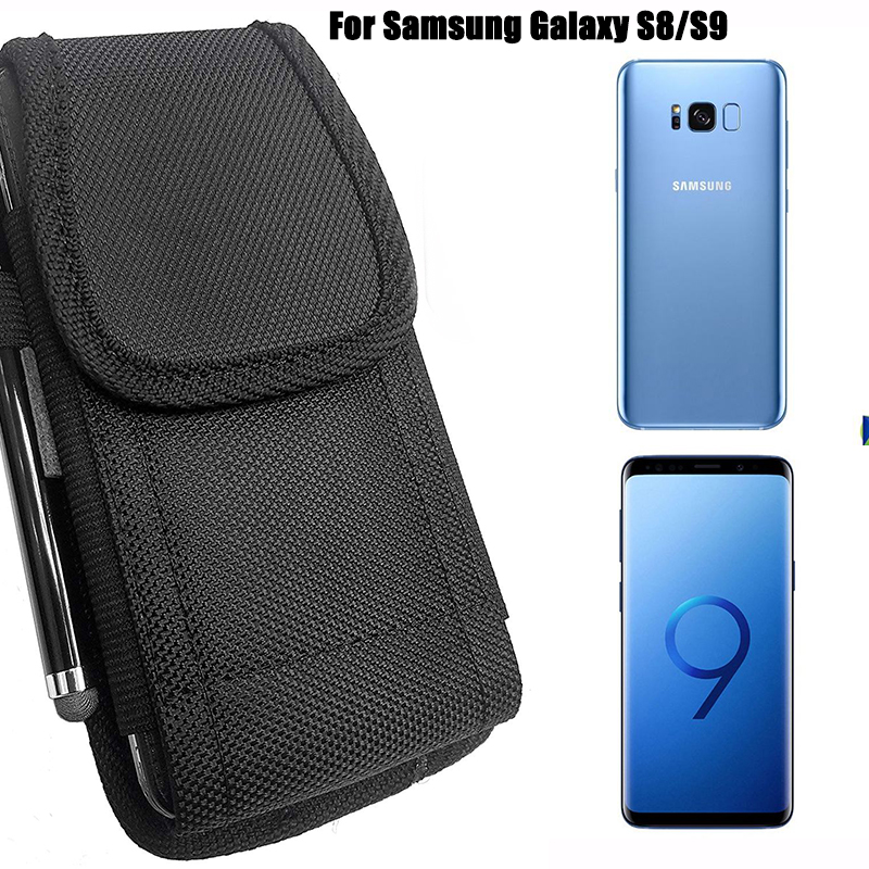buy popular 8cb3b 80aba Details about Fr Samsung Galaxy S9 S8 Vertical Belt Clip Phone Case Holder  Pouch Loop Holster