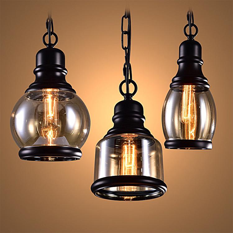 Retro Loft Industrial Bar Corridor Glass Pendant Lamp Cafe