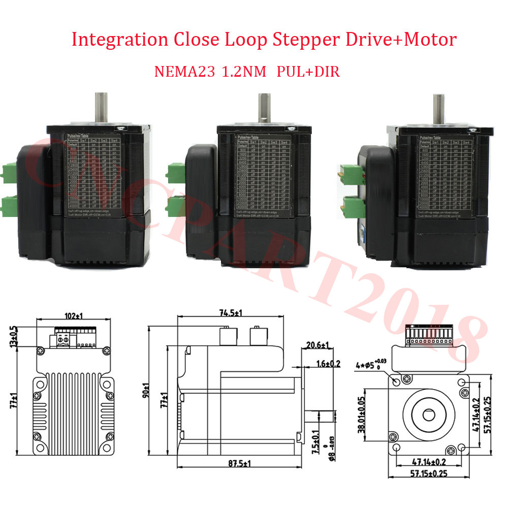 12nm 3axis Nema23 Closed Loop Stepper Motor Driver Integrated The Schematic For A Controller Based On Router Kit 3a 36v