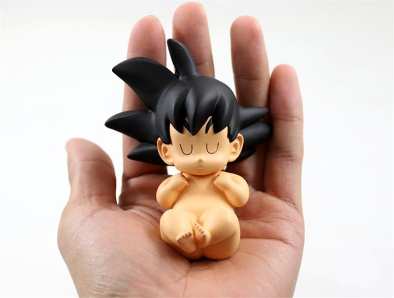 Anime Dragon Ball Z Baby Goku Kakarot Sleeping PVC Figure Capsule Pod Statue