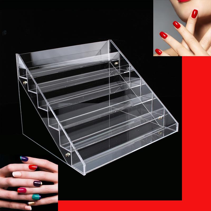 6 Etagen Acryl Nagellackständer Nagellack Regal Display Ständer Aufbewahrung NEU