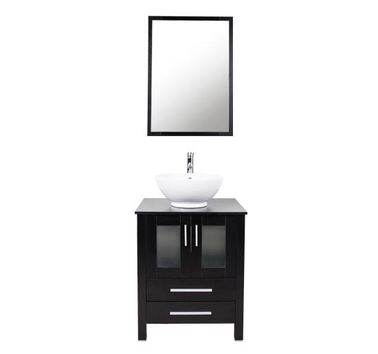 Bathroom 24 Quot Vanity Single Sink Top Cabinet Wood Bowl