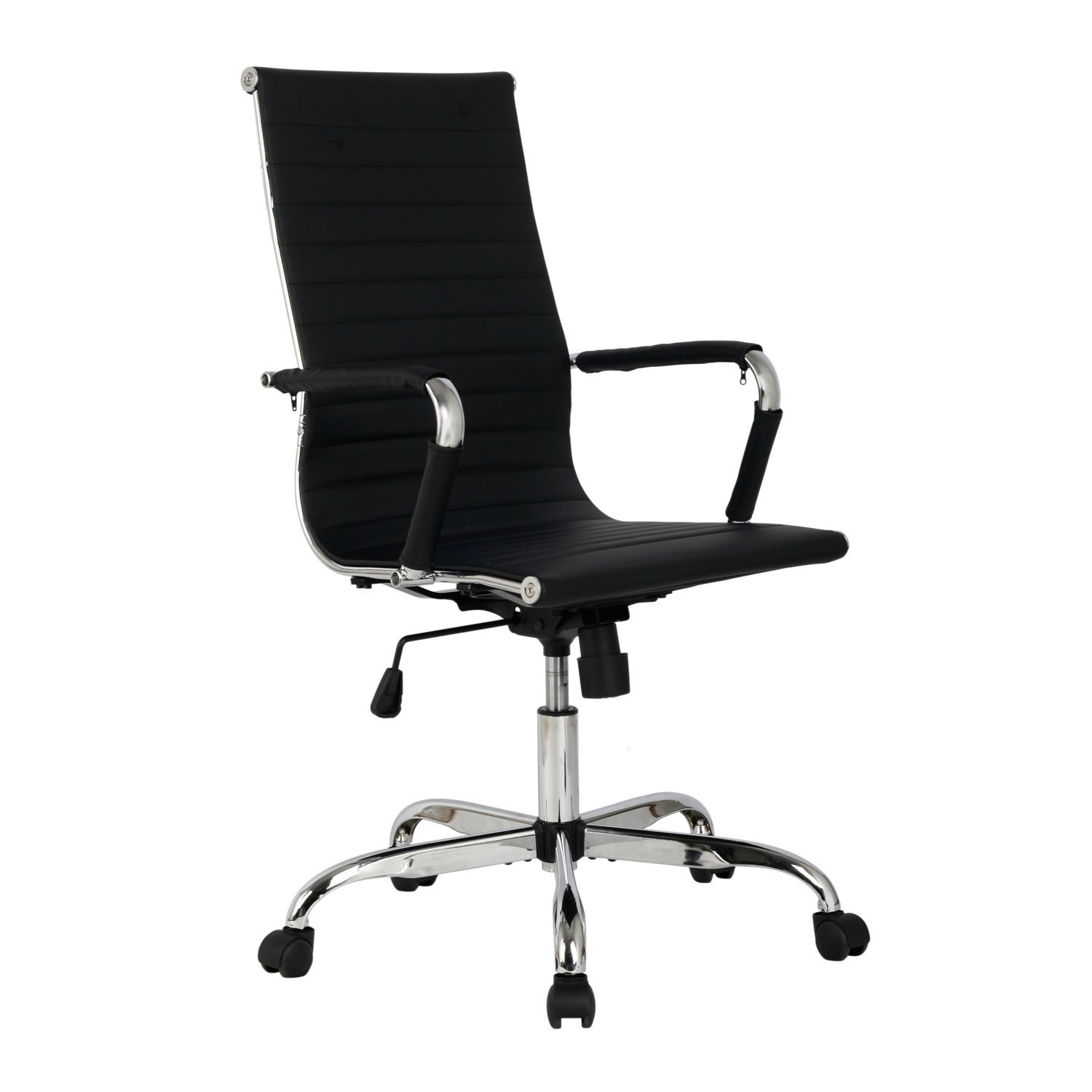 Modern pu leather ergonomic high back office chair for Modern executive office chairs