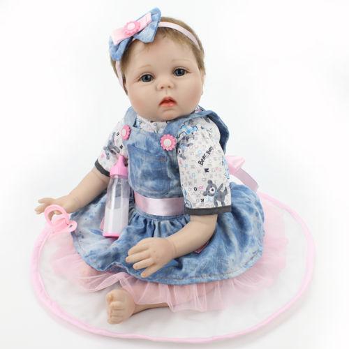 Handmade Real Looking Reborn Baby Dolls Vinyl Silicone