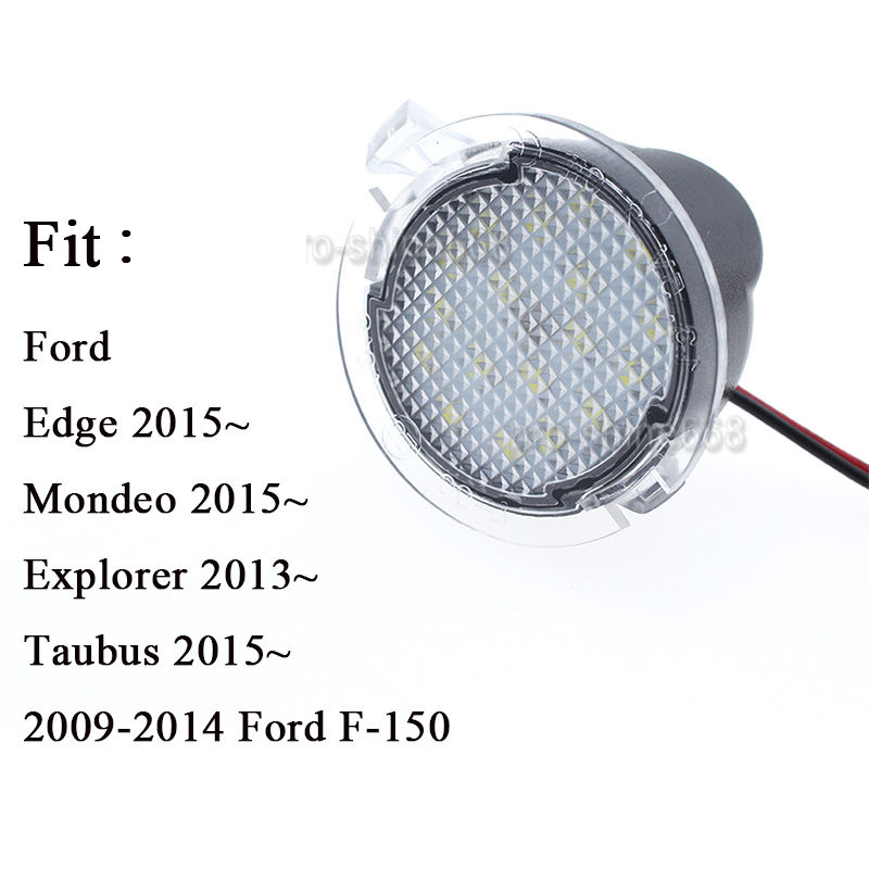High Power White Led Side Mirror Puddle Lights For Ford