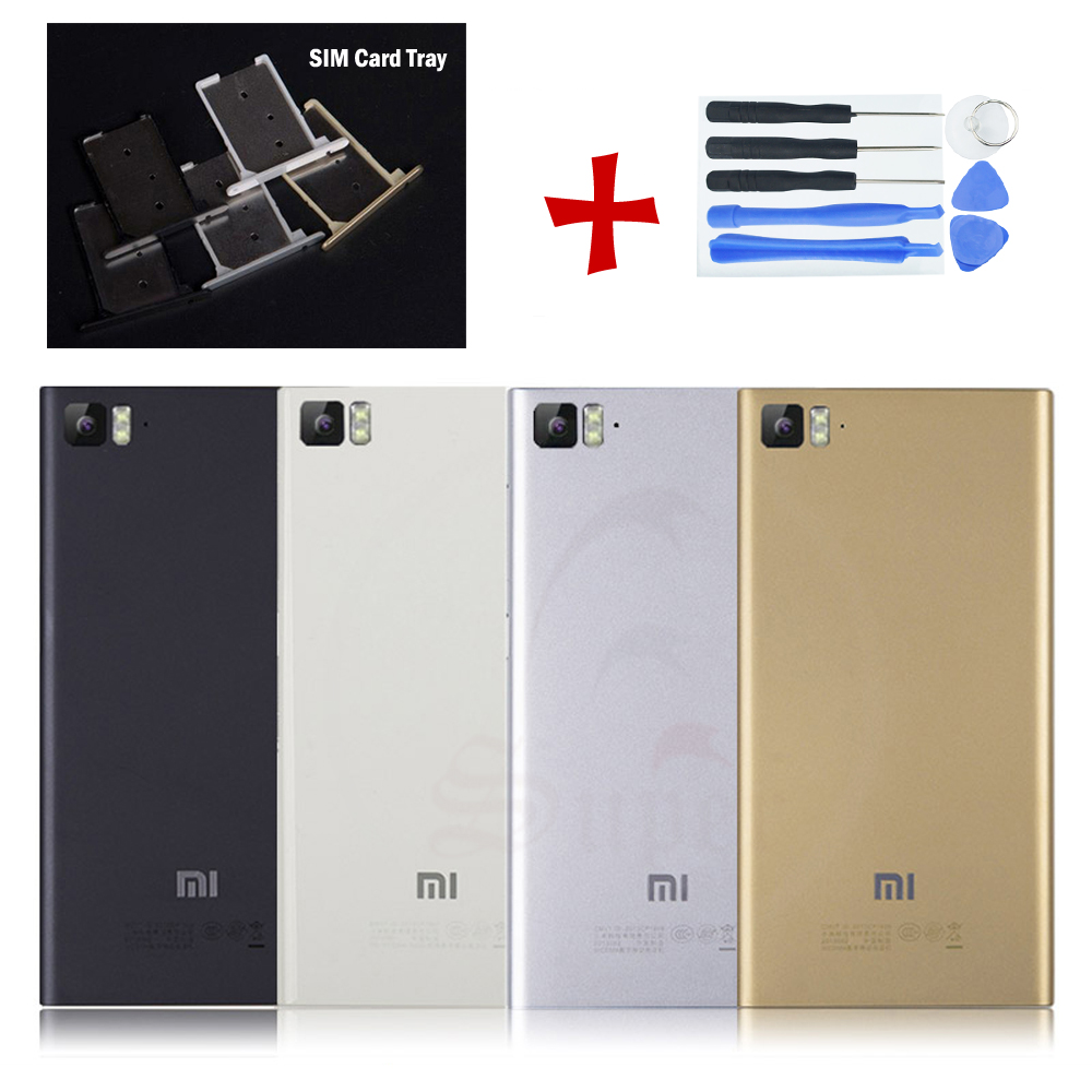 OEM For Xiaomi Mi 3 Battery Case Cover Rear Housing Metal Back Door  Replacement 7aab2df397