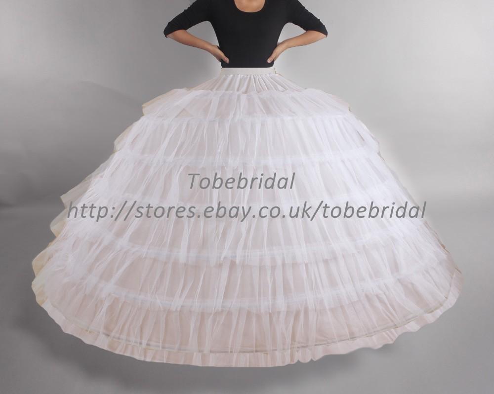 Wedding Petticoat 7 Hoops Super Crinoline kinder Bridal Skirt Slip ...