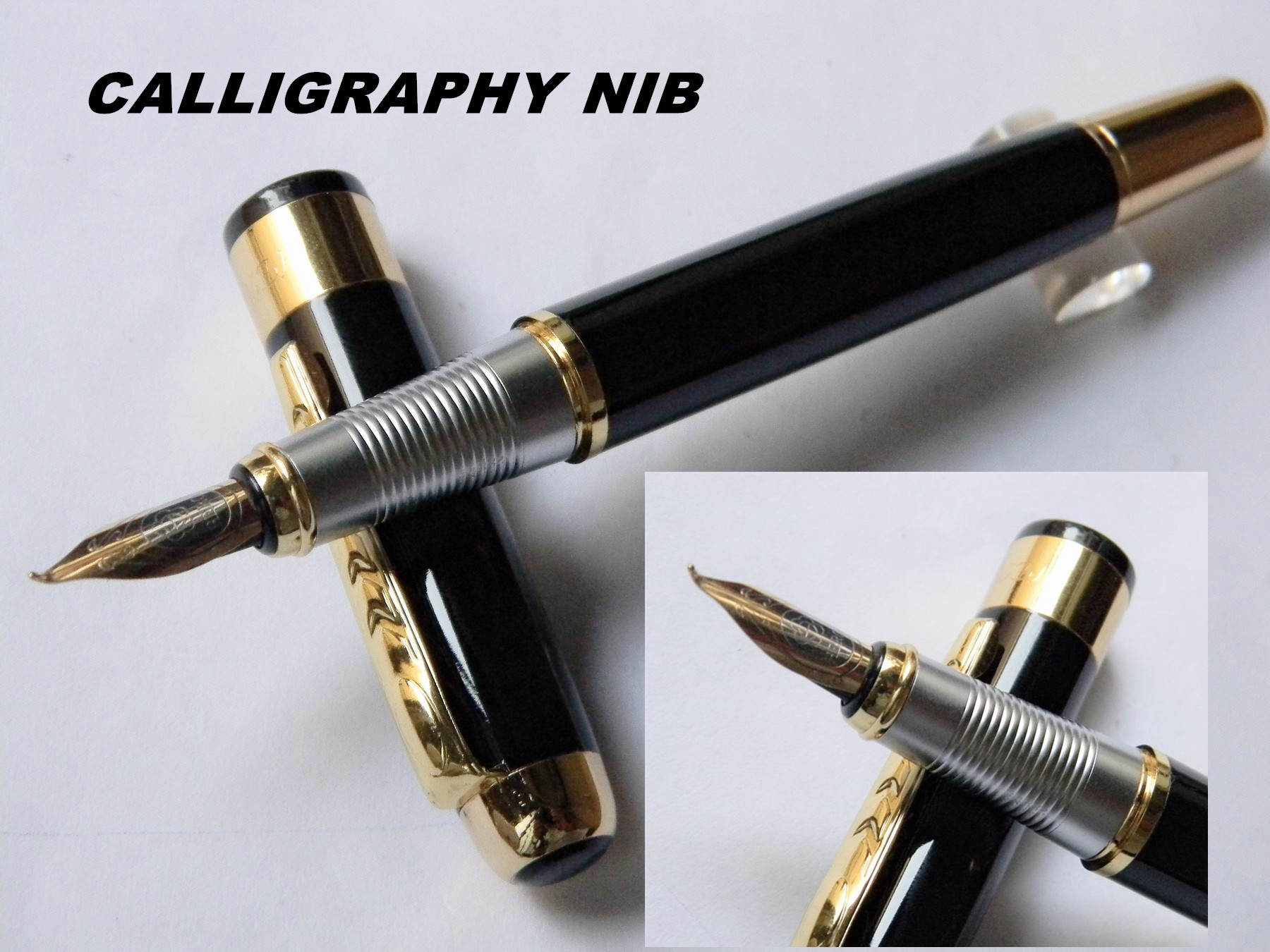 Hero 250 Executive Golden And Black M Bib Fountain Pen