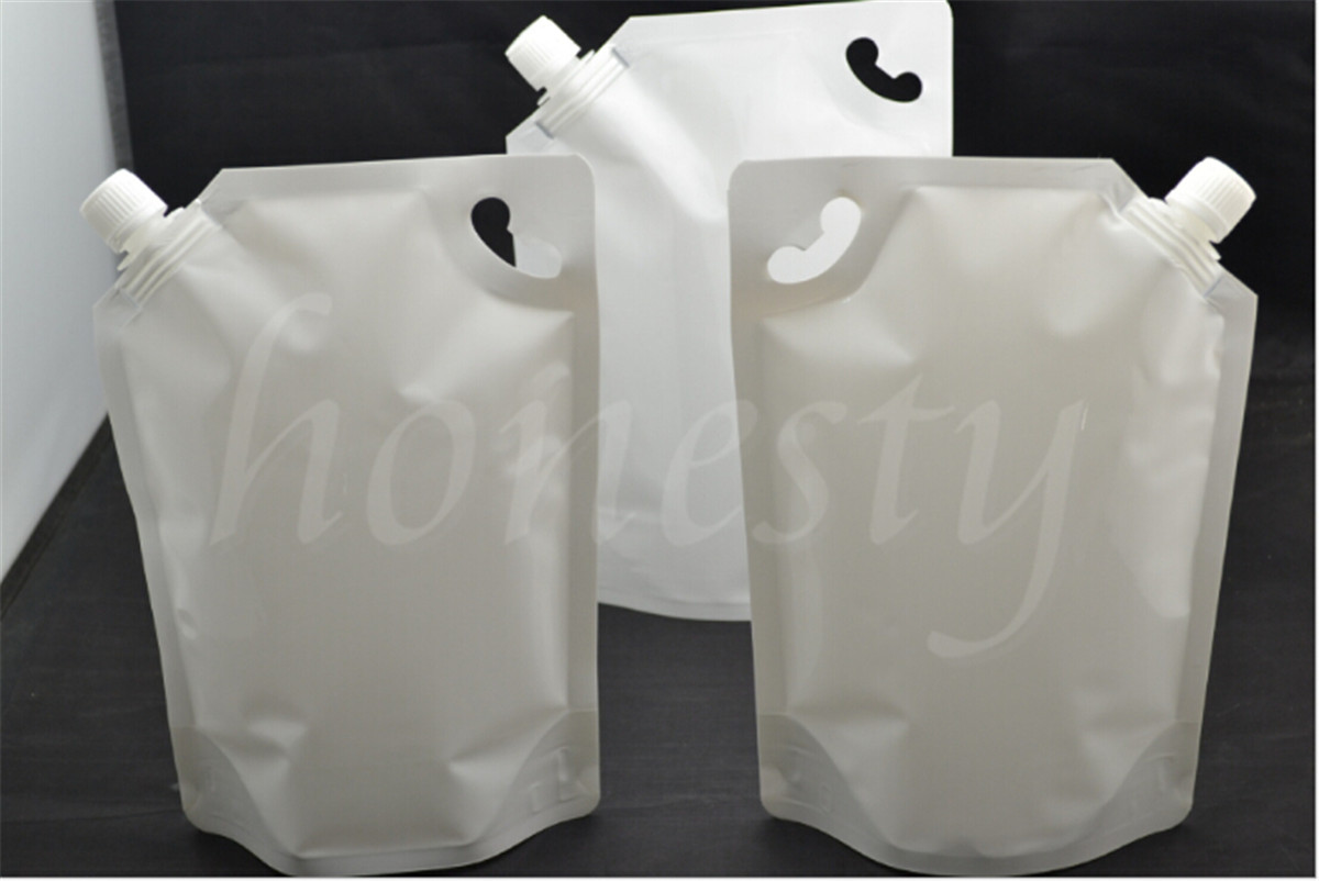 2 30pcs 50 500 1000ml Spout Pouch White Stand Up Bag Wine Sauce Leak Proof