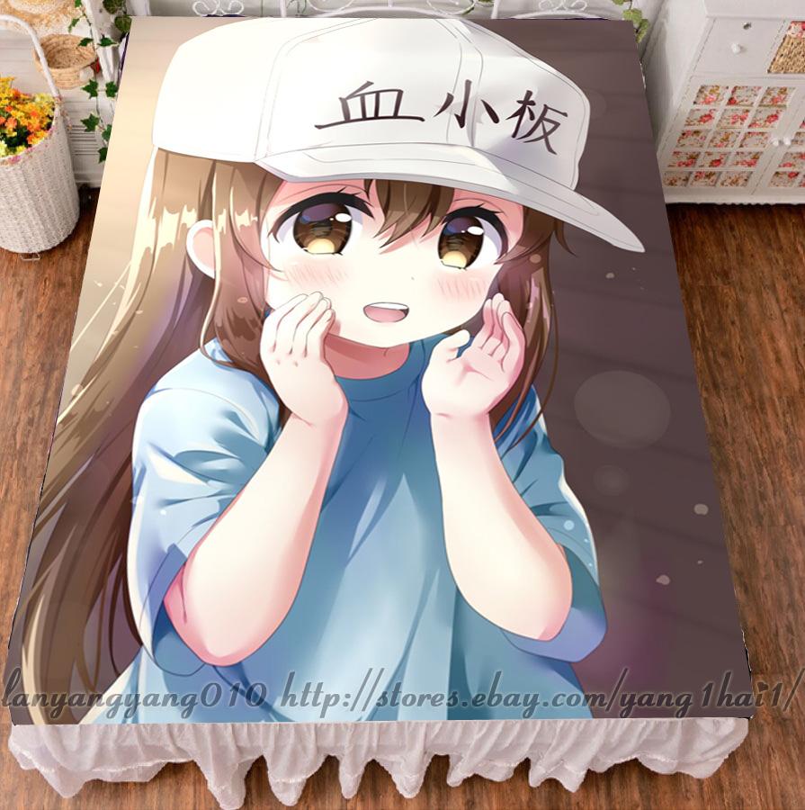Anime Granblue Fantasy Heles Korwa Lolita Flannel Blanket Bedding Flat Bedsheet