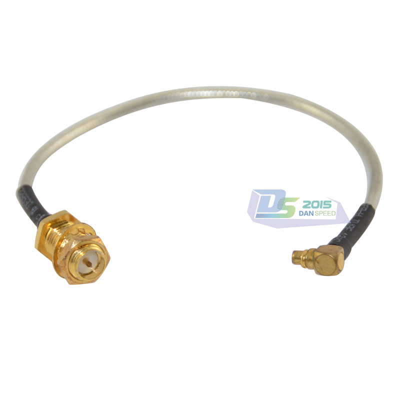 "1x SMA Male Straight to N Female Bulkhead RF Pigtail RG405 0.086 Cable 4-20/"" USA"