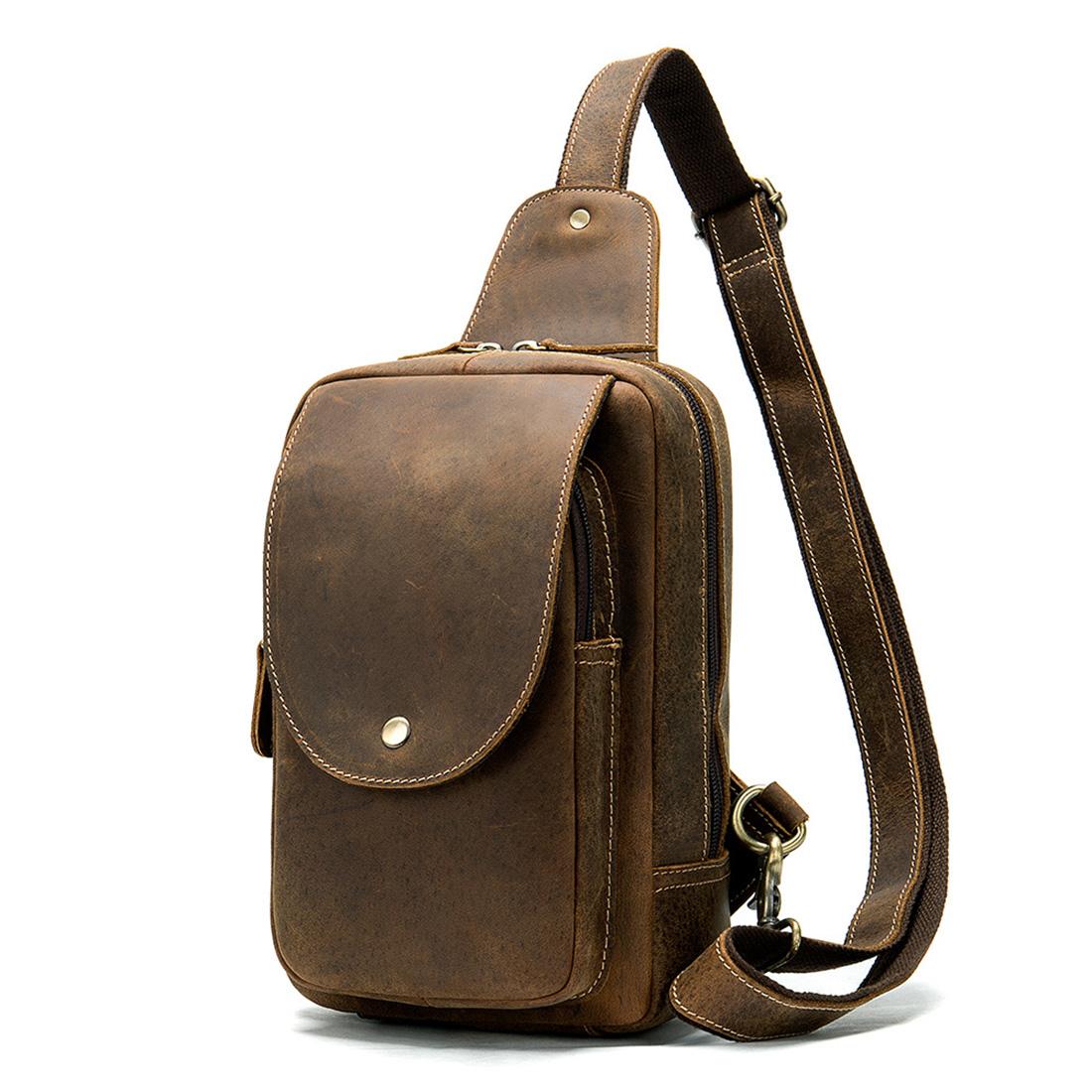 mens small leather messenger bag