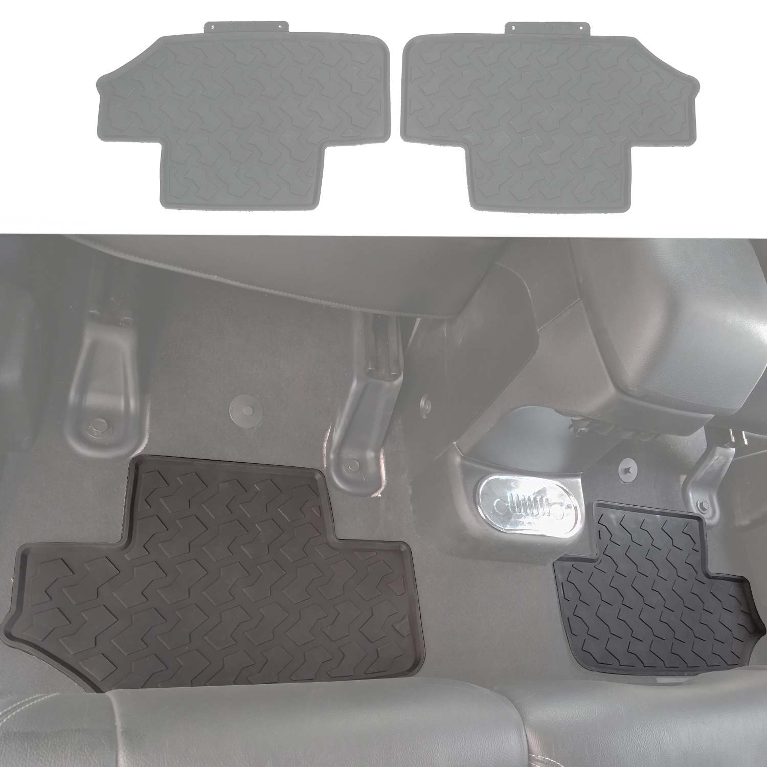 and weatherbeater p floor set double liner liners front rear tacoma cab toyota mats husky black floors
