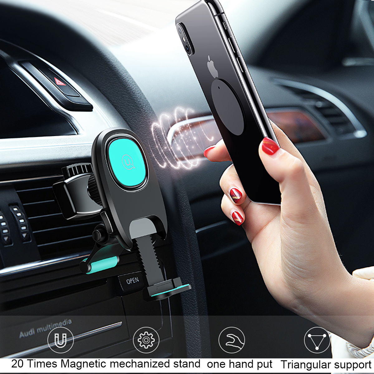 Rotating Magnet Magnetic Car Dashboard Mount Holder Stand Cardle For Cellphone