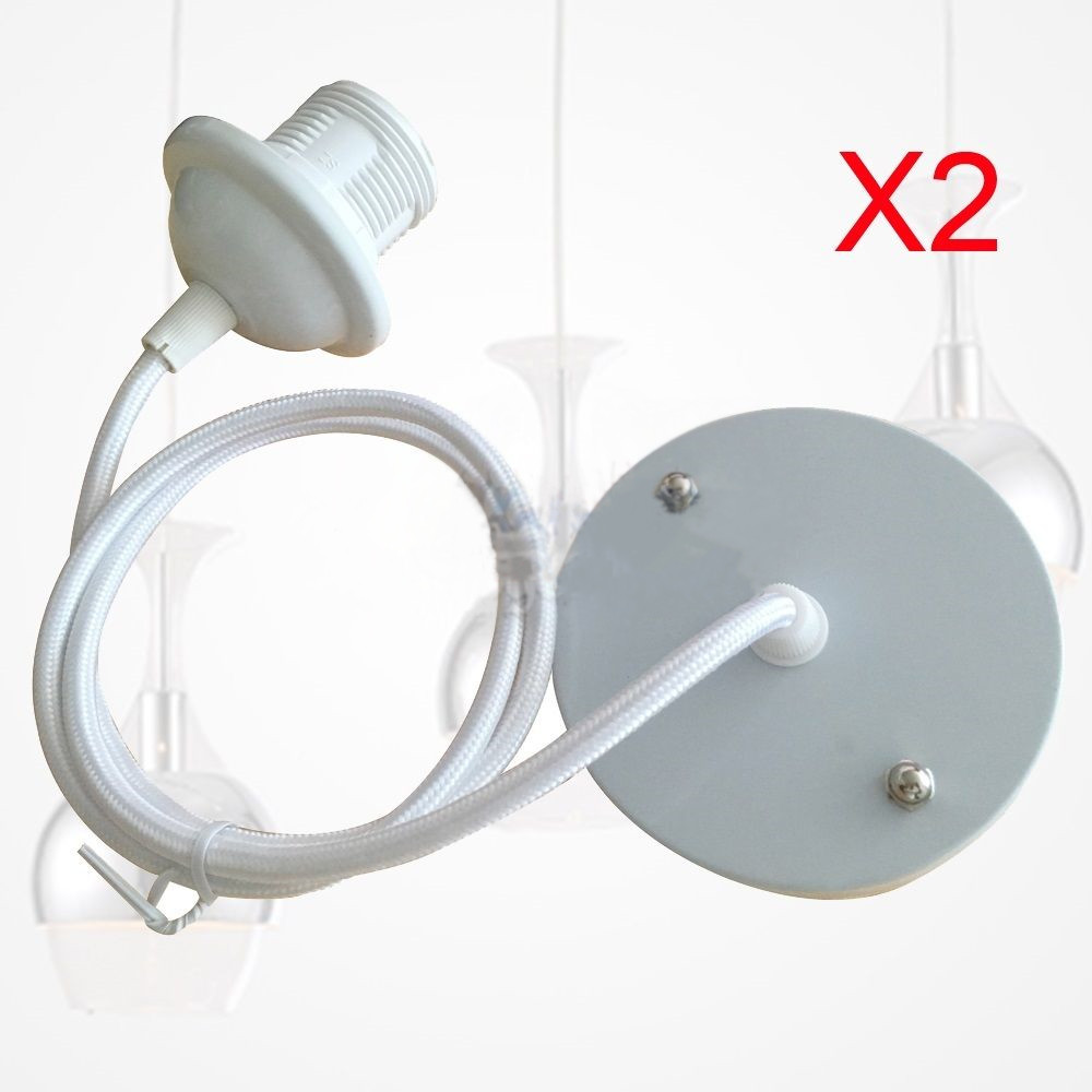 New 2x ceiling rose pendant e27 screw light bulb lamp holder durable new 2x ceiling rose pendant e27 screw light bulb lamp holder durable socket aloadofball Images
