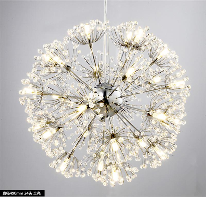 Dandelion flower led pendant lamp k9 crystal ball star chandelier dandelion flower led pendant lamp k9 crystal ball star chandelier light modern audiocablefo