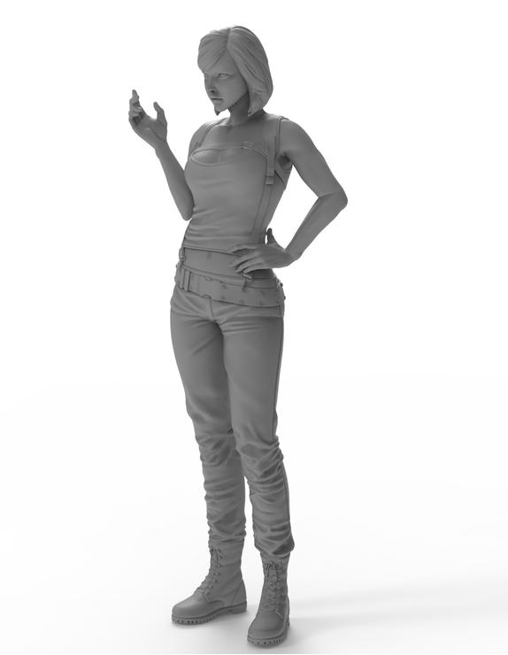 Resin Kit 596 1//24 Female soldier