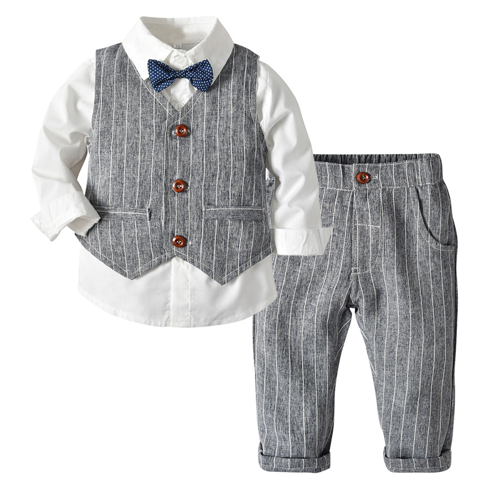 8 Yrs Page Boy Christening Formal Wedding Tuxedo 4pc Grey Suit From 3 Ms