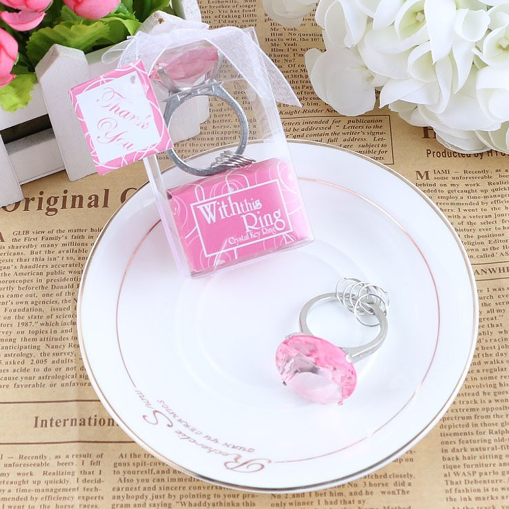 Women Men Gl Alloy Key Chain Keyring Wedding
