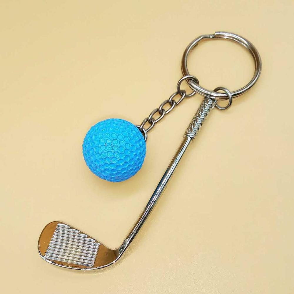 1X-Baseball-Golf-Laptop-Pendant-Key-Ring-Zinc-Alloy-Leather-Chain-Hanging-Gift