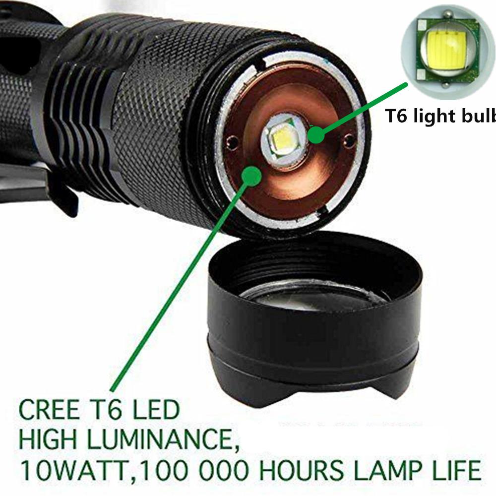 10000 lm t6 zoom taschenlampe ladeger t 18650 batterie fahrrad r cklicht stent ebay. Black Bedroom Furniture Sets. Home Design Ideas