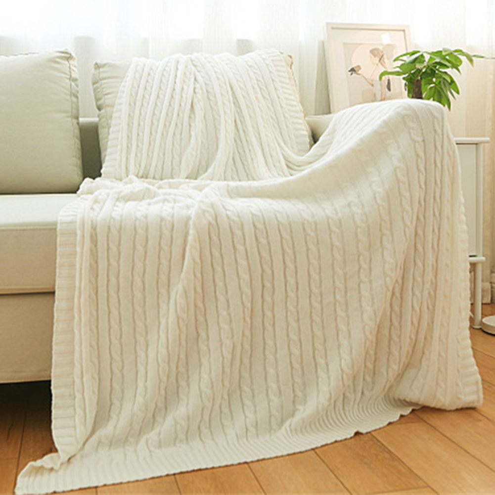 Knitted Blanket Bed Banket Cotton Super Soft Blanket Bed Sofa Cover Knit  Throw