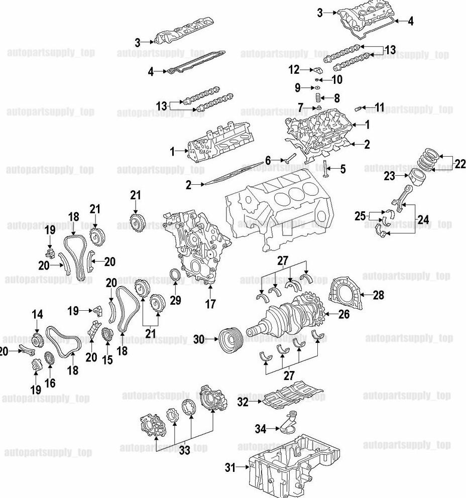 2014 Buick Enclave Camshaft: Engine Variable Timing Sprocket Cam Camshaft Phaser Gear