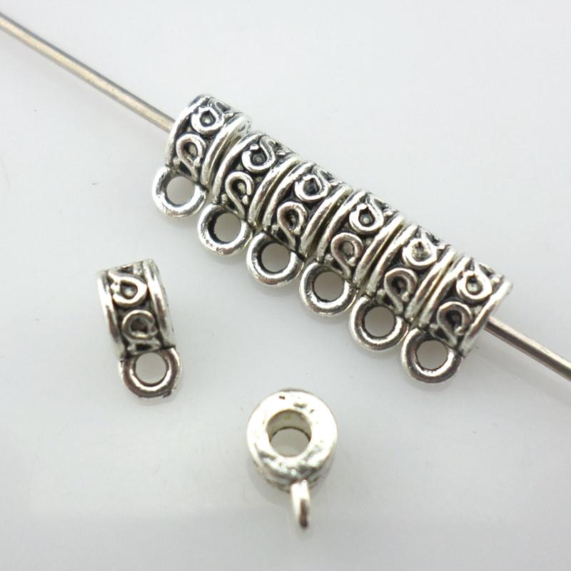 120 Pcs Antique Tibetan Silver Spacer Bead Connectors Charms Pendants DIY Making