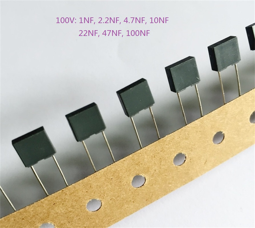 Rectangle Correction Capacitor 100V 1nF 2.2nF 4.7nF 10nF 47nF 100nF New!!