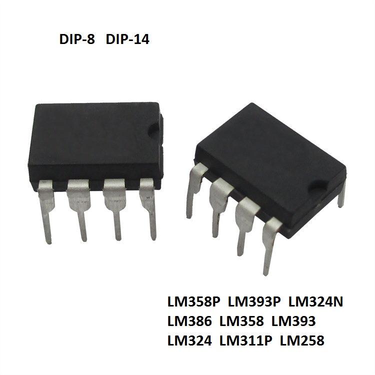 Details about New!!Operational Amplifier IC LM358 LM393 LM324 LM386 LM258  DIP - Free P&P