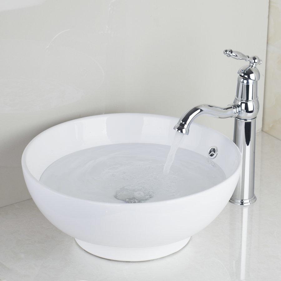 Single Handle Deck Mounted Chrome Finish Toilet Bathroom Mixer Sink ...