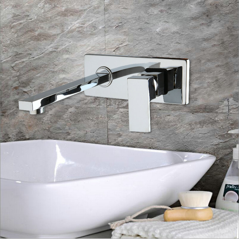 Details About AS Modern Bathroom Basin Sink Taps Bathtub Waterfall Faucet  Chrome Wall Mounted