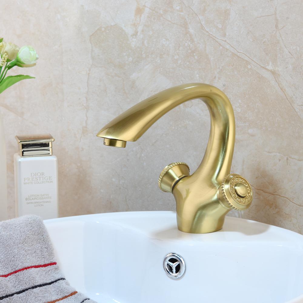 Details zu Badezimmer Ausgu Becken Waschbecken Single Griff Ausgussbecken  Nickel Gold Messi