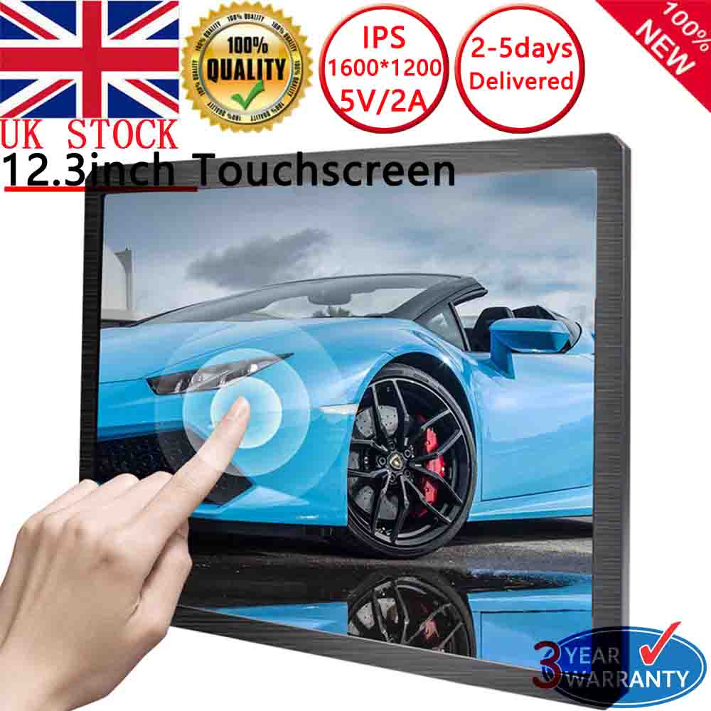 Details about Touchscreen 12 3 Inch Portable Display UGA 1600×1200 For  Raspberry pi PS4 Xbox