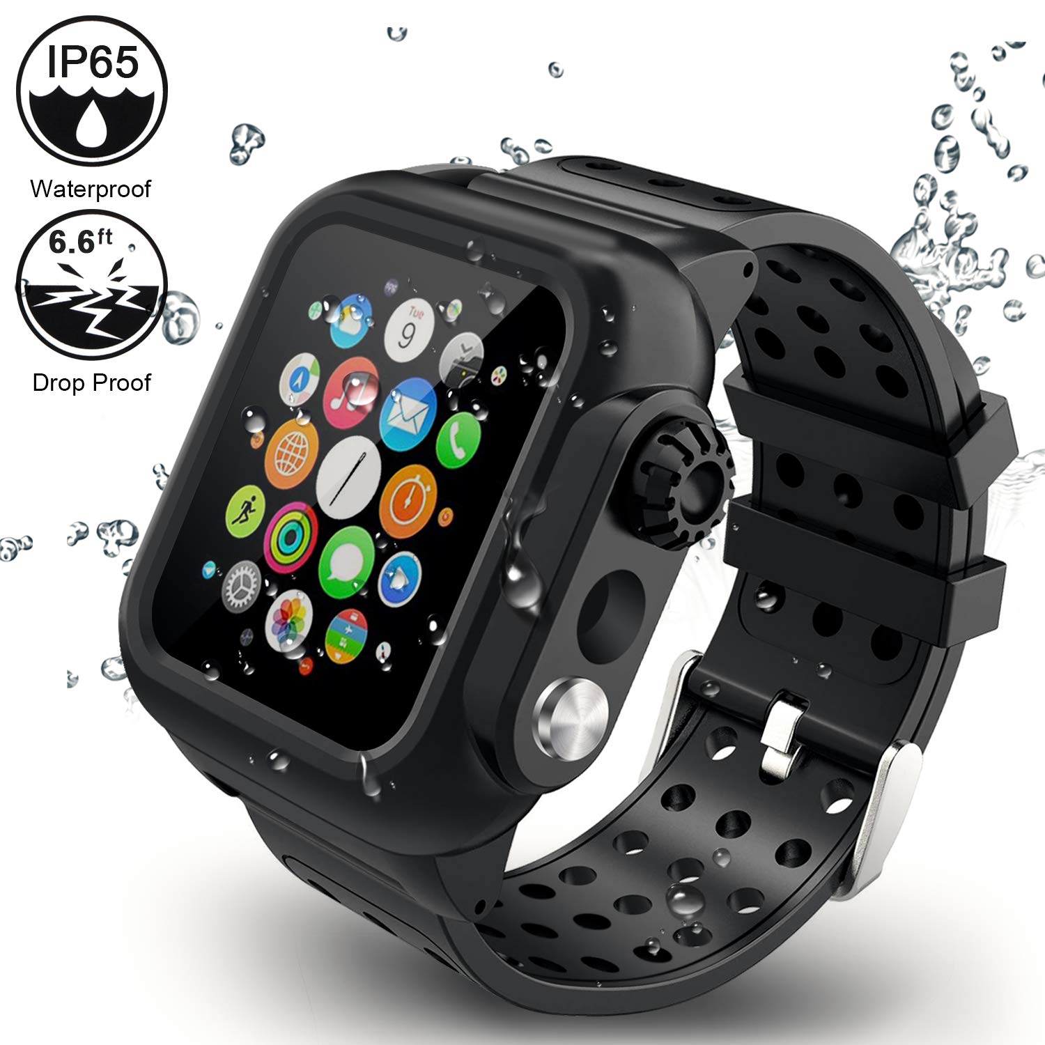 Apple Watch Band With Case 44mm Series 4 5 3 In 1 Waterproof Screen Protector Ebay