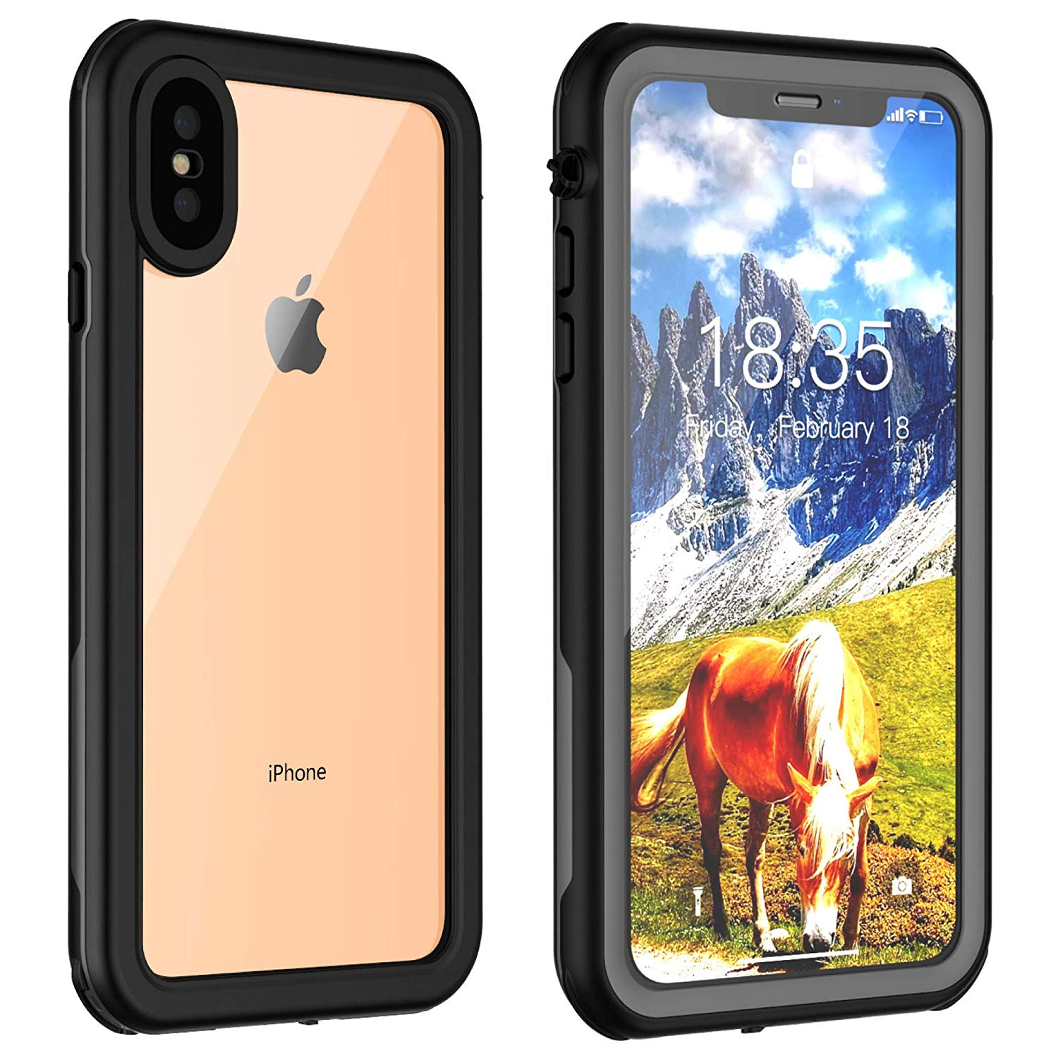 iphone xr case and screen protector animal