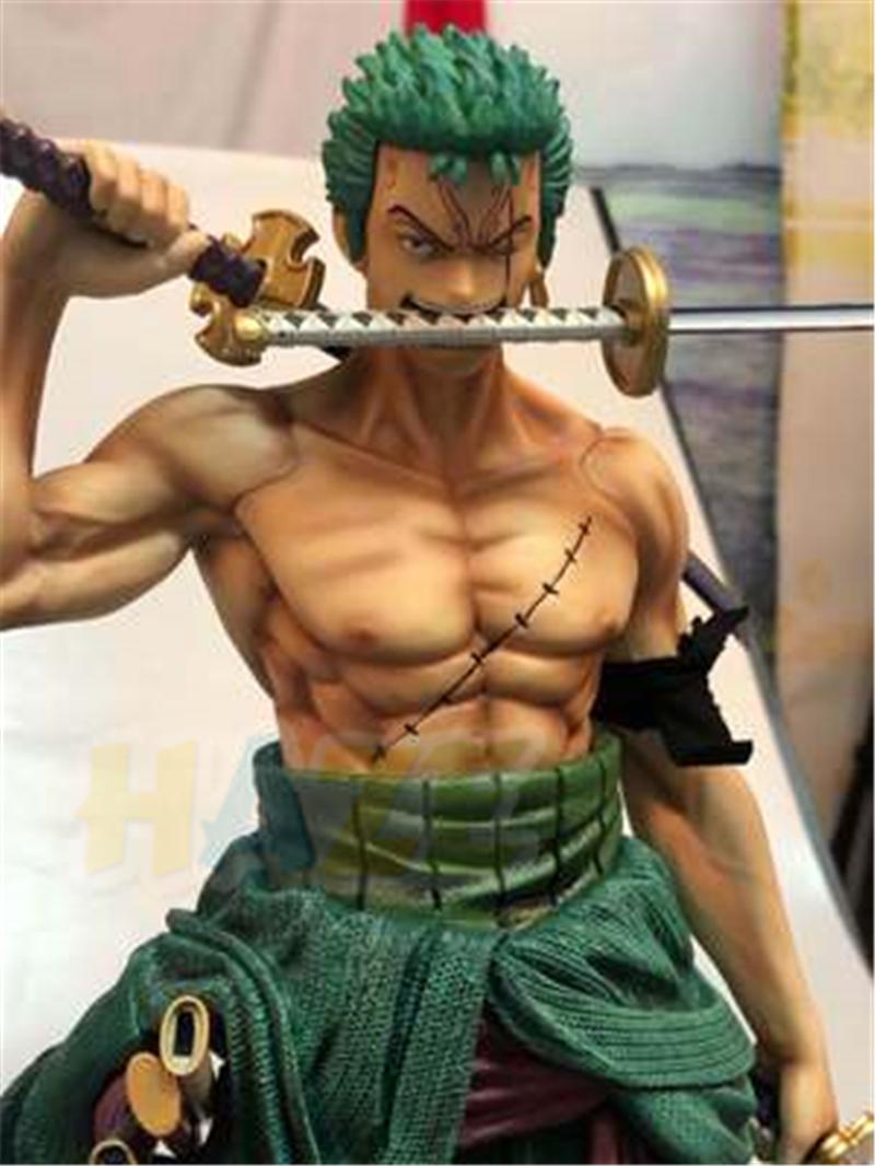 One Piece Santōryū Two-Headed Roronoa Zoro Figure Statue Toy Collection GK