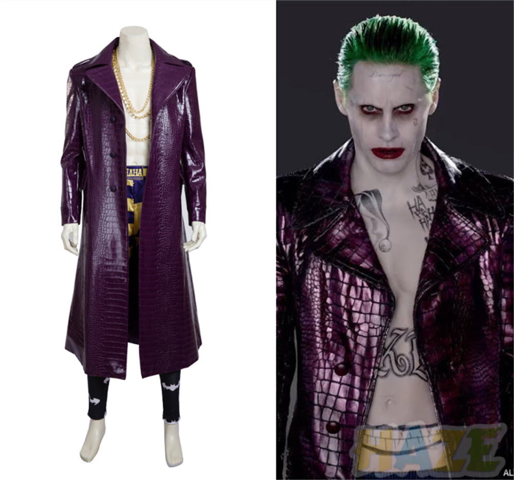 Details About Suicide Squad Jared Leto Joker Costume Cosplay Costume Halloween Jacket Men S