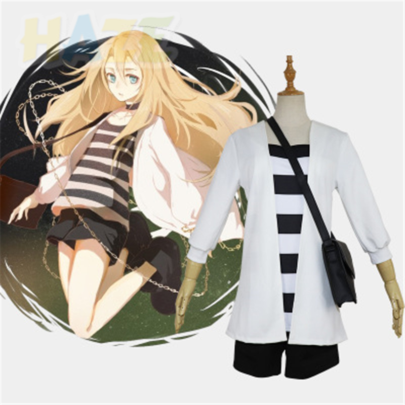 Angels of Death Ray Rachel Gardner Cosplay Costume Girl Full Set Outfit Wig Suit