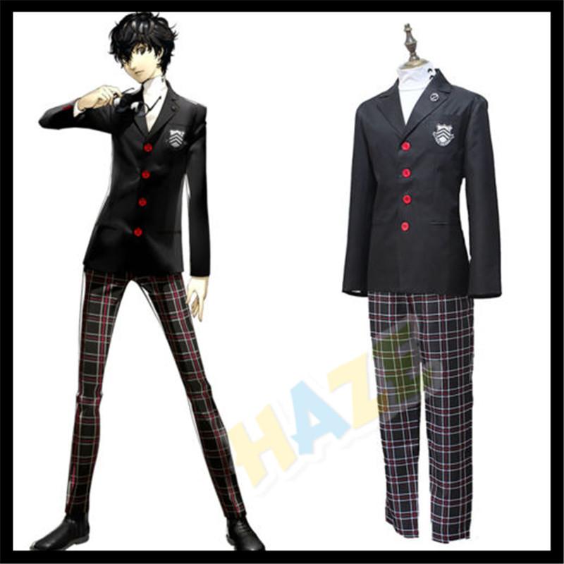 Details About Persona 5 P5 Joker Akira Kurusu Cosplay Costume School Uniform Outfit Suit Ccc