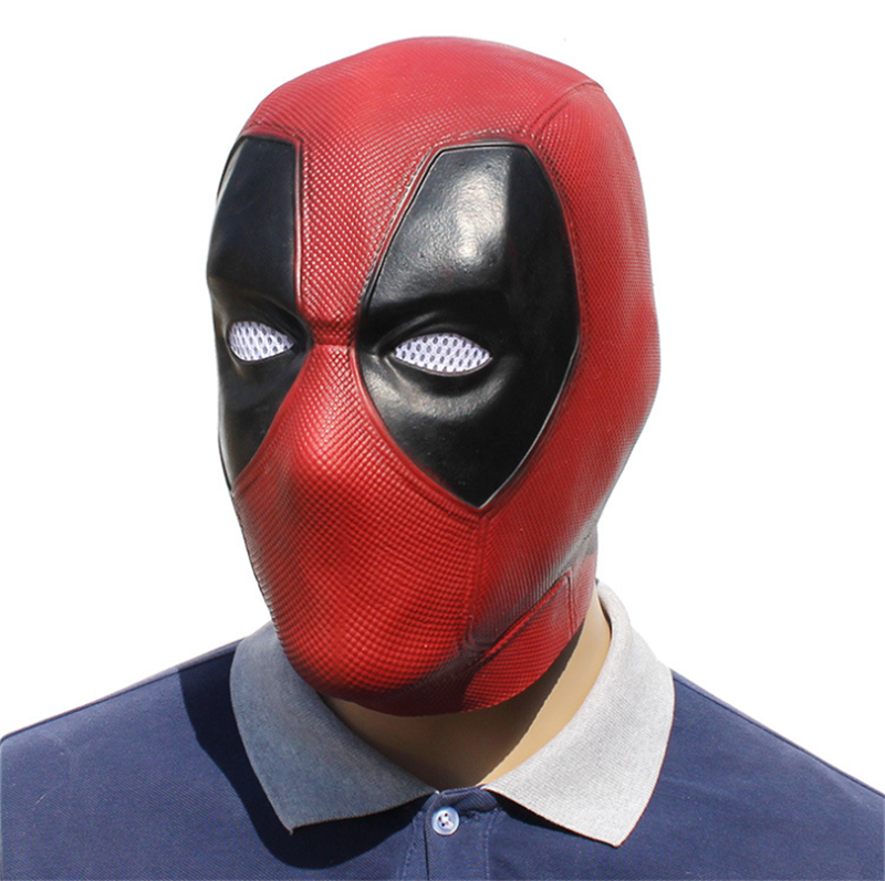 Deadpool Mask Costume Movie Adults Fancy Dress Theme Party Latex