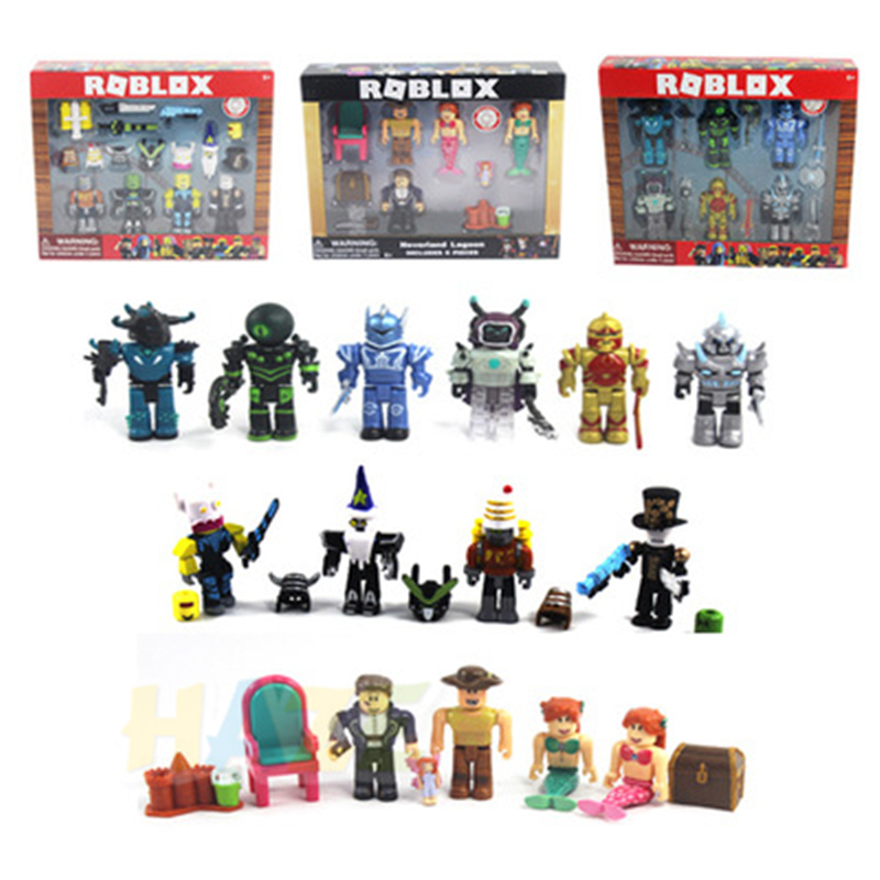 2018 Roblox Game Figma Oyuncak Robot Mermaid Playset Action Figure Kids Toy