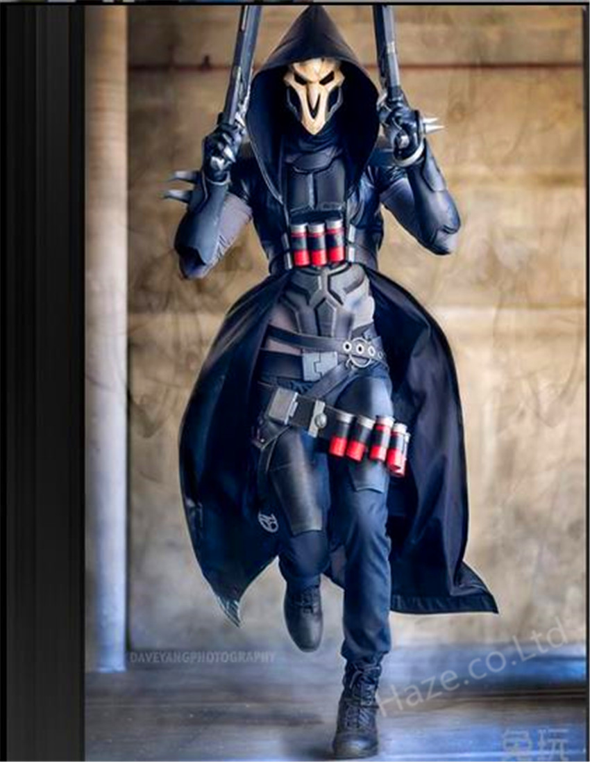 overwatch reaper cosplay costume with mask props cool great ebay