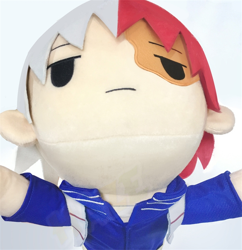 Anime My Hero Academia Todoroki Shoto Plush Sleepwear Soft Stuffed Lying Doll