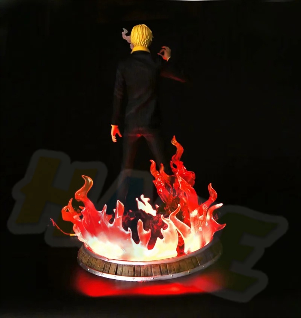 Anime One Piece Vinsmoke Sanji Figure Statue 38cm With LED Light Collection