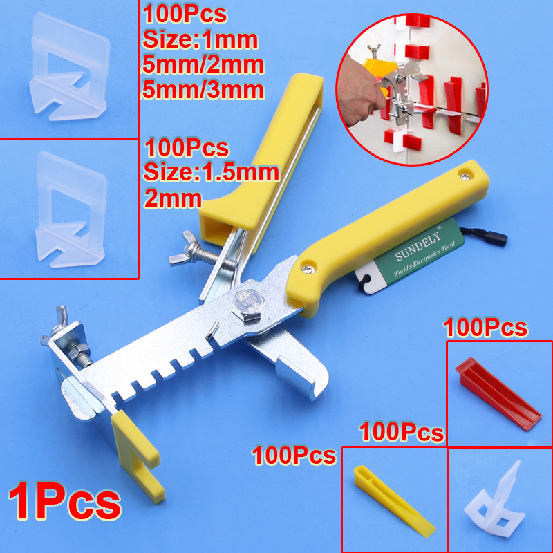 Tile Leveling Spacer System 1//1.5//2//3mm Clips For Wall Floor Tile Level Lippage