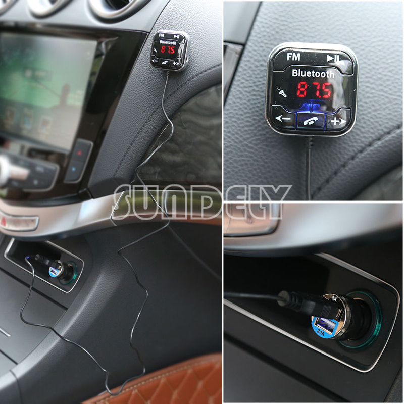 Car Kit Handsfree LCD MP3 Player FM Transmitter Wireless Bluetooth USB/SD 2
