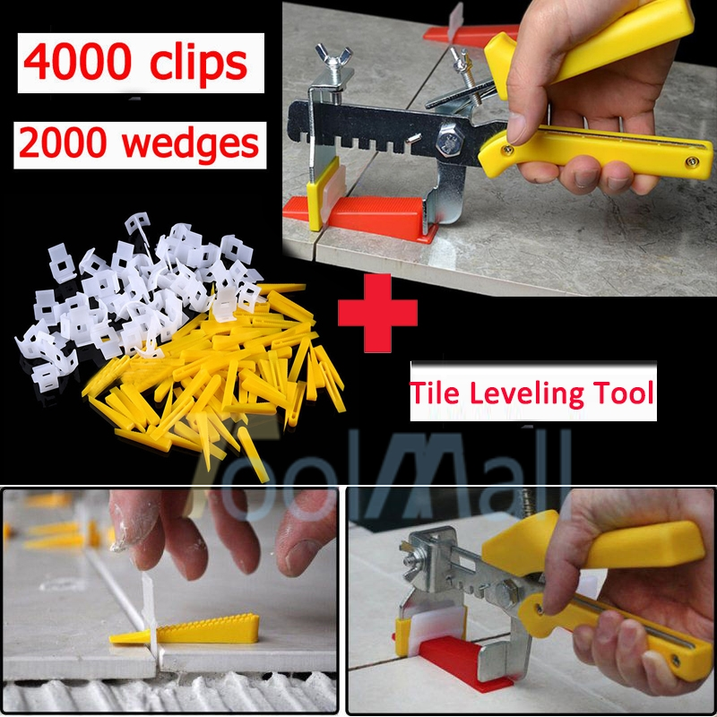 600 Tile Leveling System Kit 200 Wedges 400 Clips Plier Tiling