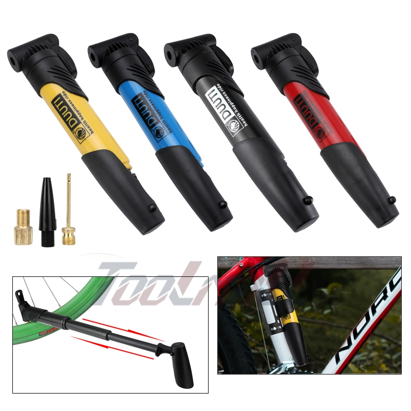 US New Mini Bicycle Hand Pump Mountain Bike Cycling Air Pump Tire Ball Inflator