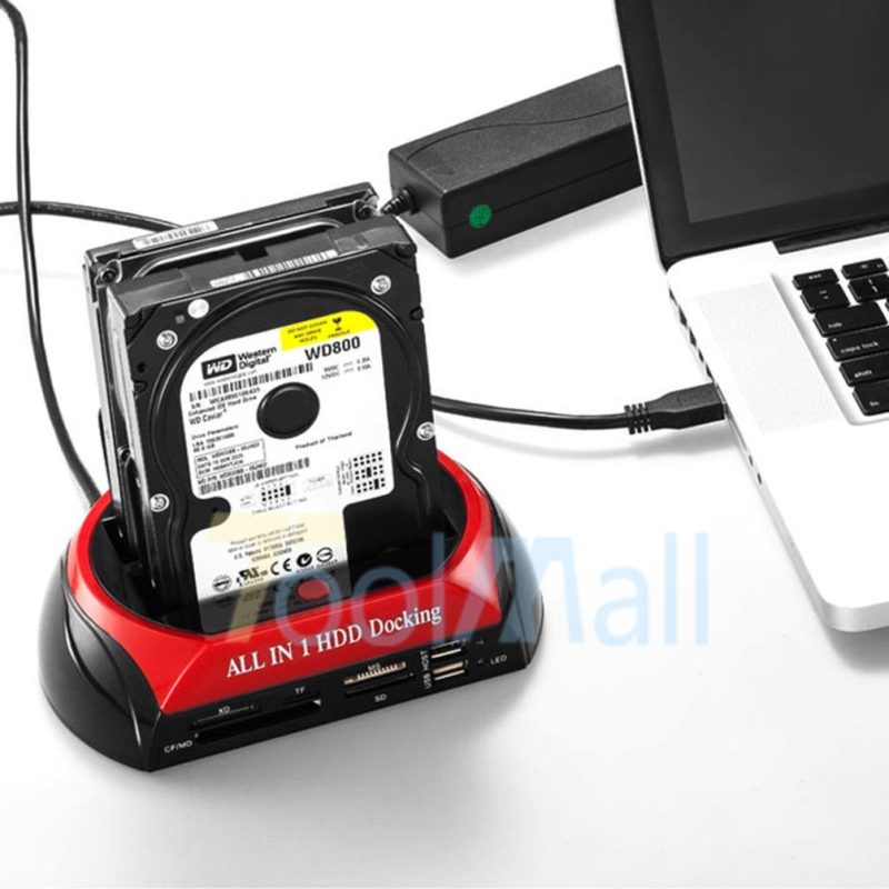 2.5''/3.5''Hard Drive Card Reader+External Triple SATA IDE ...